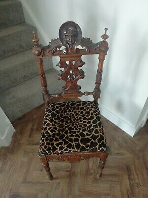 £30 • Buy Carved Upholstered Hall Chair (single)