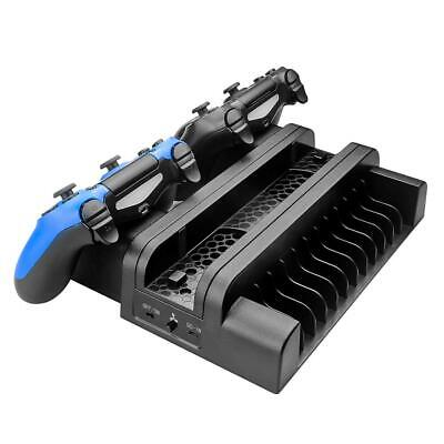 AU49.06 • Buy 3 In 1 Dual Charging Station Dock W/Cooling Fan For PS4/PS4 Slim/PS4 Pro