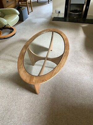 £51 • Buy G-plan Oval Teak Glass Topped Coffee Table 1970's