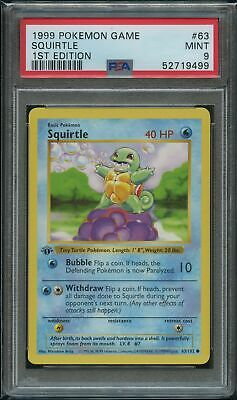 $300 • Buy Pokemon 1st Edition Squirtle PSA 9 Mint 63/102 1st Edition Base
