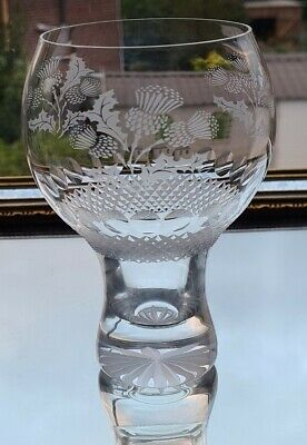 £25 • Buy Fine Quality Large Goblet/Gin Glass With Scottish Thistle Design 540 Ml
