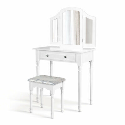 AU122.99 • Buy New Dressing Table Stool Mirror Drawer Makeup Jewellery Cabinet Organizer