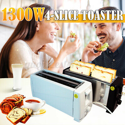 AU28.66 • Buy Toaster 4 Slice Electric 220V Kitchen Stainless Steel Home Bread Cooker Toasting