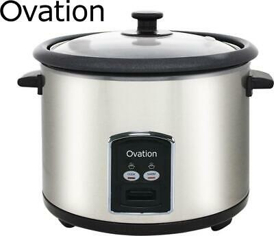 AU44.98 • Buy Ovation 10-Cup Rice Cooker Vegetable Steamer Non Stick Stainless Steel