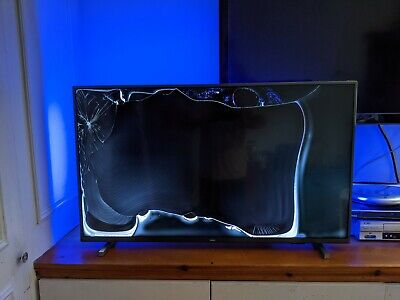 £80 • Buy Philips 43PUS7805 43 Inch 4K UHD Ambilight Television Cracked Screen