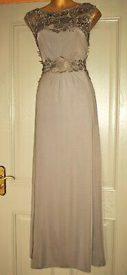 AU18.91 • Buy Phase Eight Long Grey Embroidered Evening Wedding Maxi Occasion Dress Size 14