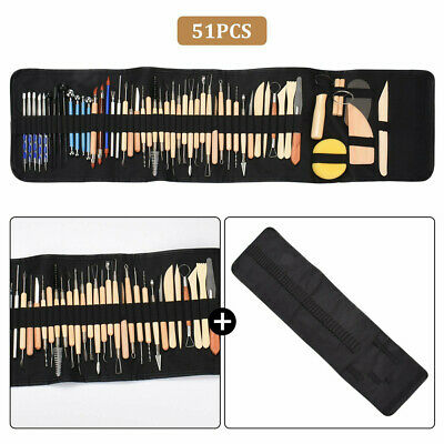 £18.94 • Buy 51PCS Polymer Clay Tools Set Modelling Sculpting Tool Pottery Model Art Projects