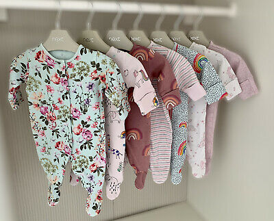 £4 • Buy NEXT Newborn Baby Girls Sleepsuits Bundle Size: FIRST SIZE Up To 7.8lbs 3.4kg