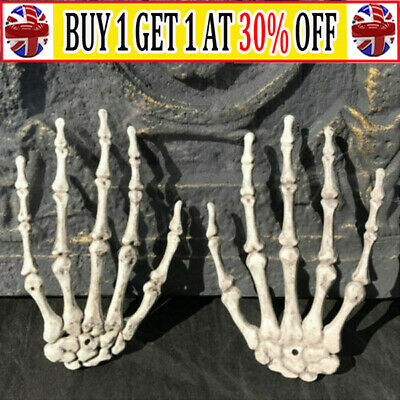 £7.48 • Buy 1 Pair Of Plastic Skeleton Hands Haunted House Props Halloween Party Decoration