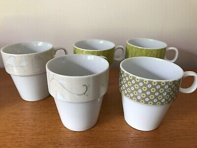 £3.50 • Buy Next Stacking Mugs X 5 - Lovely Condition
