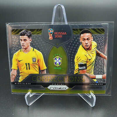 AU14.95 • Buy 2018 Panini Prizm World Cup Philippe Coutinho Neymar Jr Connections Card Nm