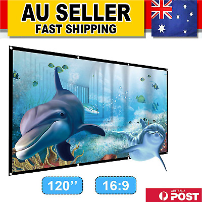 AU32.99 • Buy 120  Foldable Projector Screen Portable Outdoor Home Movie Theater Cinema 16:9