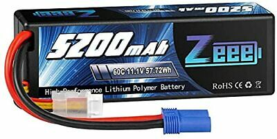 £29.99 • Buy 3S LiPo Battery 11.1 V 60C 5200 MAh Hard Case Battery With EC5 Plug For RC