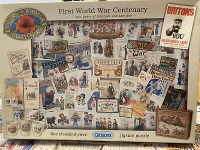 £4 • Buy Gibsons 1000 Piece Jigsaw First World War Centenary. Preloved Complete.see Photo