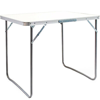 £24.95 • Buy Foldable 2.6ft Picnic Table Camping Table Outdoor White Portable Folding Desk