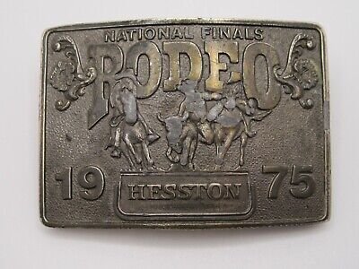 £3.62 • Buy National Finals Rodeo Hesston 1975 NFR Adult Cowboy Buckle, Vintage