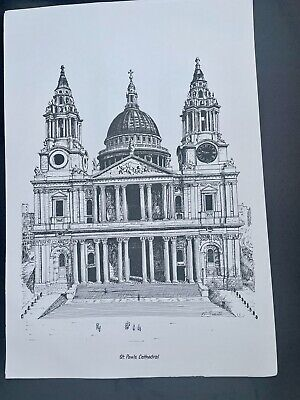 £2 • Buy Bernard Smith Lithograph St Paul's Cathedral