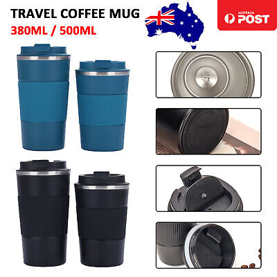 AU19.98 • Buy Insulated Travel Coffee Mug Cup Thermal Flask Vacuum Thermos Stainless Steel Hot