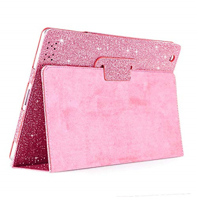 £18.85 • Buy IPad 2 3 4 Glitter Case,FANSONG Sparkle Bling PU Leather Smart Cover [Flip Stand