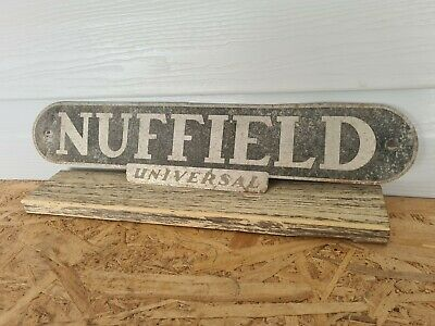 AU40 • Buy Vintage Nuffield Tin Tractor Badge Logo  -  Mancave, Upcycle, Restore