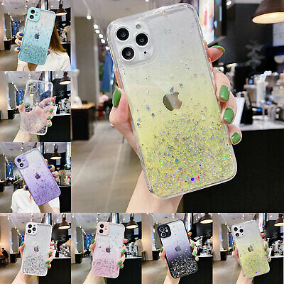 AU11.95 • Buy Girls Glitter Bling Clear Bumper Case For IPhone 13 Pro Max 12 11 XR XS 87 Plus