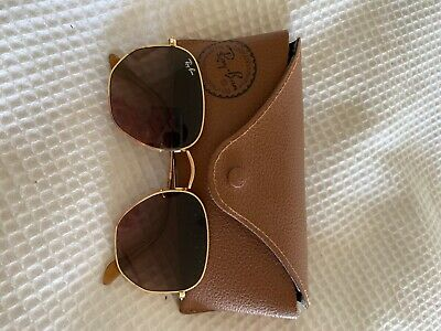AU90 • Buy Rayban Hexagonal Glasses - Gradient And Gold Size Large