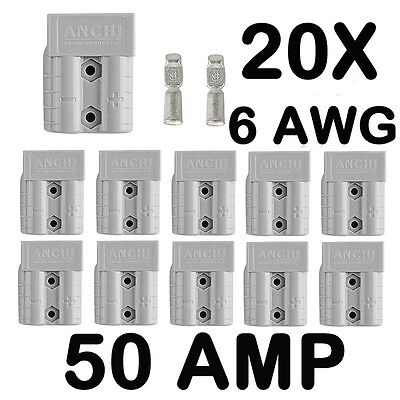 AU25.98 • Buy 20x Anderson Plug Style Connector 50AMP Premium Exterior DC Power 12-24V 6AWG