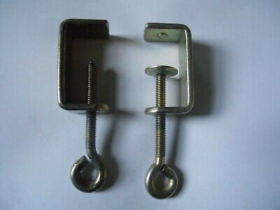 £9.99 • Buy Brother Knitting Machine Parts - Standard 4.5mm Set Of Two Table Clamps