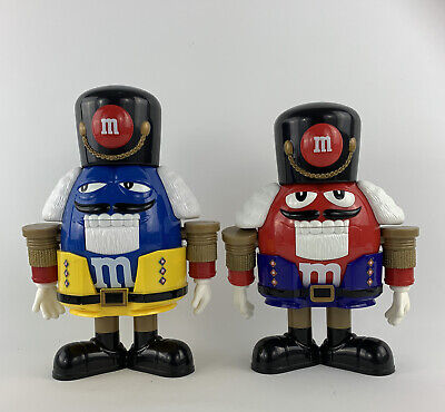 £17.34 • Buy M&M's Nutcrackers Limited Edition Lot Of 2 Red & Blue Chocolate Candy Dispensers