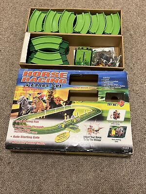 £22.99 • Buy SPARES - Silverlit Horse Racing Game 4 Lane Set Battery Operated Race Track 2004