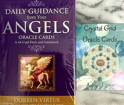 £72.59 • Buy Daily Guidance From Your Angels By Doreen Virtue & Crystal Grid Oracle Card Sets