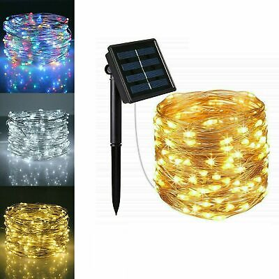 £7.99 • Buy 300LED Solar String Lights Waterproof Copper Wire Fairy Christmas Garden Outdoor