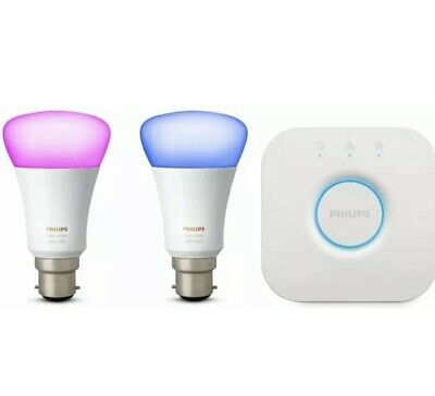 AU147.14 • Buy Philips Hue Ambiance Starter Kit B22 - White And Colour Bulbs With Bridge ✅NEW!