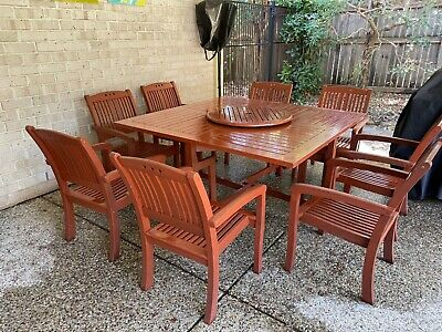 AU1000 • Buy Early Settler Outdoor Timber 9 Piece Setting