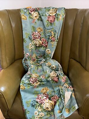 """£50 • Buy Vintage Immaculate 1970's Floral Botanical Quality Lined Curtains 43"""" By 70"""" D"""