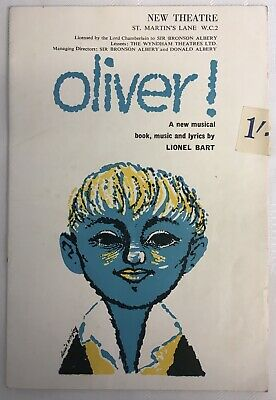 £4 • Buy Lional Bart's  Oliver  New Theatre Programme Starring Ron Moody 1960's.