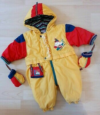 £44.99 • Buy Vintage 80s/90s Sturdy Baby Bright Yellow Snow Suit Size 74, 6-9 Months Winter