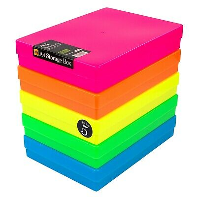 £16.99 • Buy WestonBoxes A4 Storage Box For Paper, Card And Craft Items - 3.6 Litre Volume