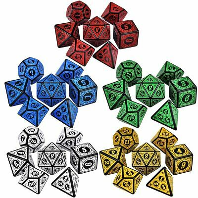 AU4.48 • Buy Dungeons And Dragons 7-Die Polyhedral Dice Set Game Accessory Iidescent Glitter
