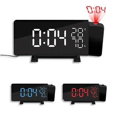 £22.08 • Buy LED Digital Projection Alarm Clock With FM Radio Projector Dimmable Clock Snooze