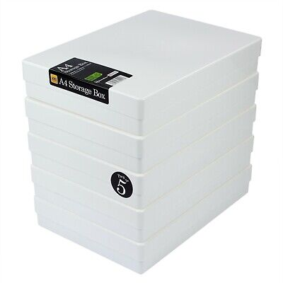 £16.99 • Buy IMPACT RESISTANT WestonBoxes A4 Craft Storage Boxes With Lids
