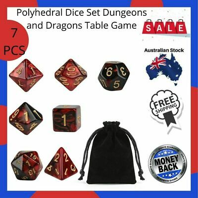 AU9.49 • Buy New-Polyhedral Dice Set Dungeons And Dragons Table Game Dice DND 7 Pcs-Au