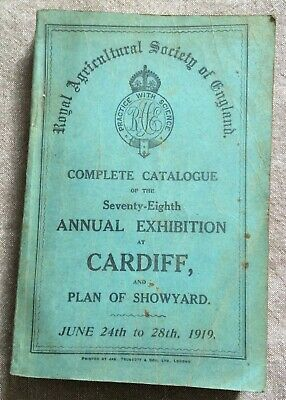 £35 • Buy 1919 Cardiff Annual Exhibition Catalogue,  Royal Agricultural Society.