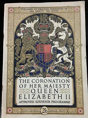 £2.50 • Buy The Coronation Of Her Majesty Queen Elizabeth Approved Souvenir Programme