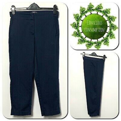 £8.90 • Buy Marks And Spencer The Mia Women's Trousers Slim Size 10 Navy Crop