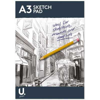 £3.99 • Buy A3 A4 A5 Sketch Pad Book White Paper Artist Sketching Drawing Draw Art Craft New