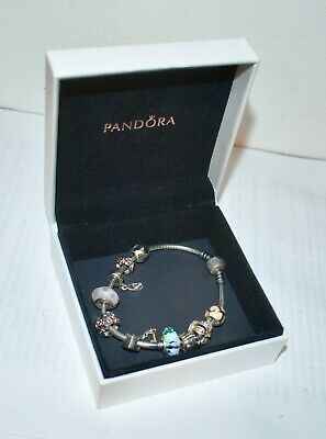 AU102.50 • Buy Authentic PANDORA Stg Silver Bracelet With 10 Retired ALE Silver Charms Orig Box