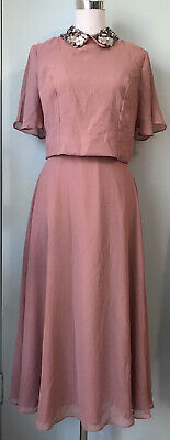 AU35 • Buy ASOS TALL Pink Beaded Neckline Open Back Fit & Flare Style Dress Size 10 NWT