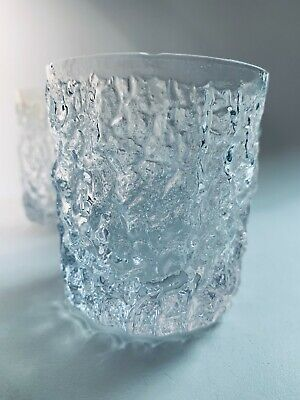 £24.99 • Buy 3 Whitefriars Glacier Textured Tumbler Whiskey Glasses By Geoffrey Baxter