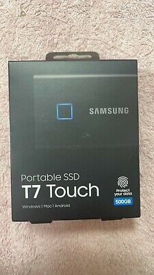 AU128.88 • Buy Samsung T7 Touch Portable SSD 500Gb Black External Solid State Drive MU-PC500K/W